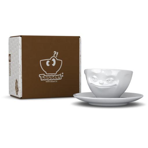 Tassen Espresso kop grinning