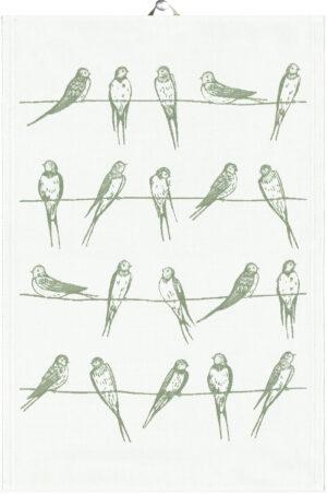 Sitting birds mini håndklæde viskestykke gæstehåndklæde ekelunds økologisk kvalitet