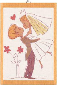 ekelund mini håndklæde økologi vævet nygift bryllup kærlighed
