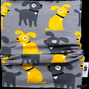 Bekmose PaaPii tubescarf halstørklæde grå solgul økologi